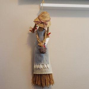Handmade Raffia Kitchen Doll